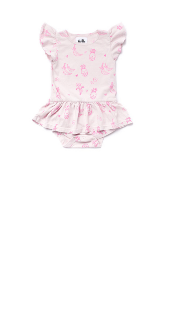 Kira Kids, Fruit Dress Onesie - Light Lilac