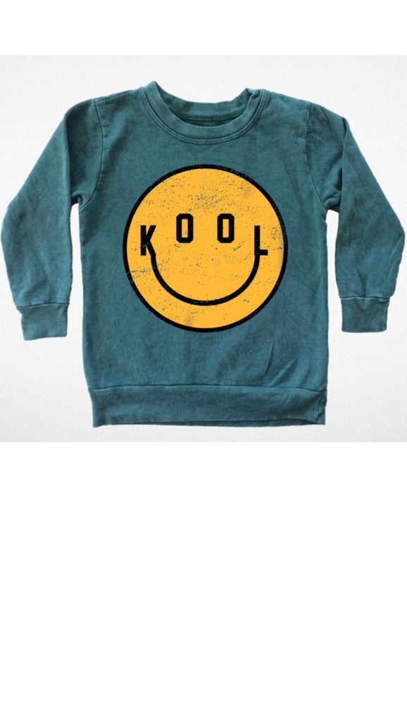 Tiny Whales, Kool Sweatshirt - Mineral Evergreen