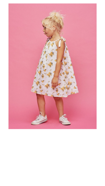 Fruitie Cutie Bow Dress - Lemonade