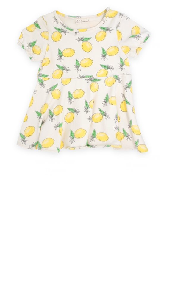 Lil' Lemons, Buttercup Knit Dress - Lemon