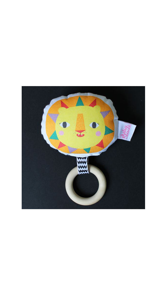 Julia Staite Tribal Safari Lion Rattle Teether
