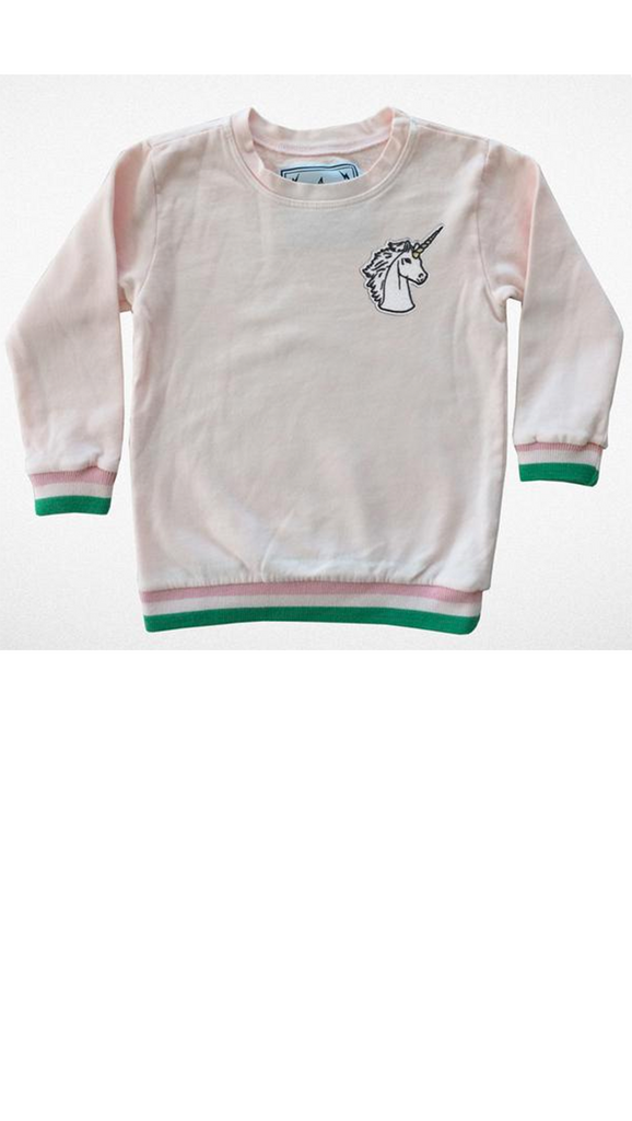 Tiny Whales, Magical Society Sweatshirt - Faded Pink