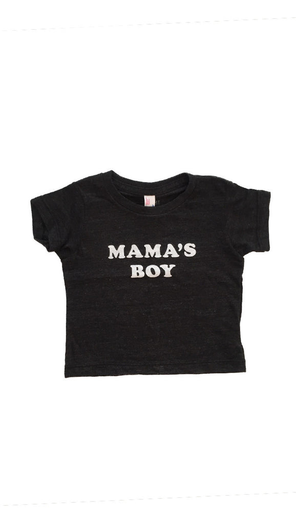 The Bee + The Fox, Mama's Boy tee - Charcoal