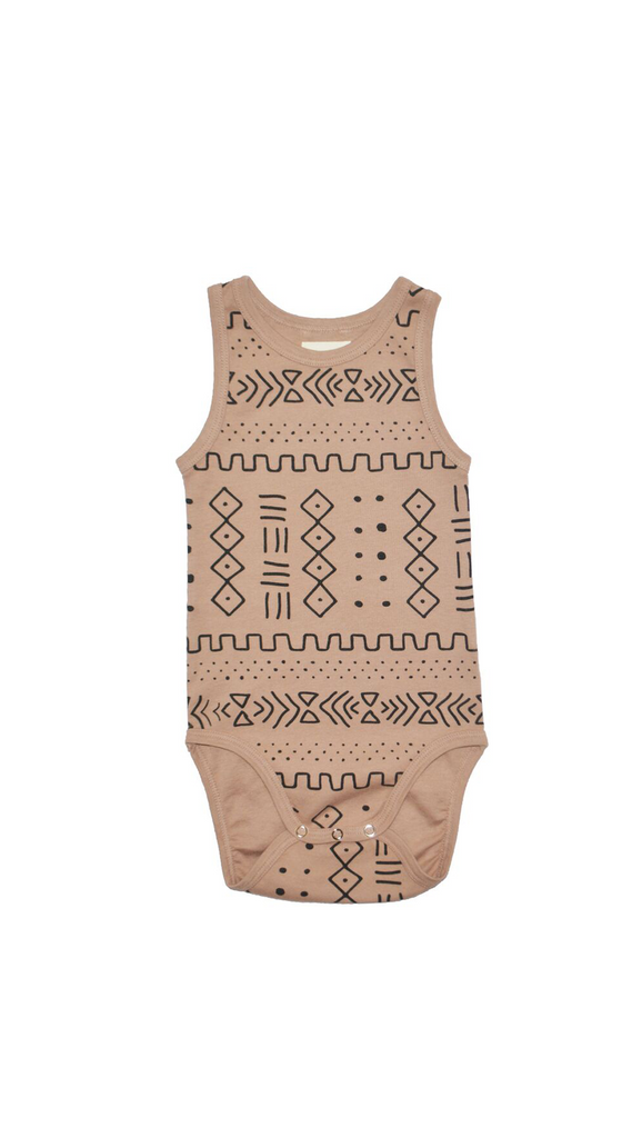 Little Urban Apparel, Onesie - Mud Cloth