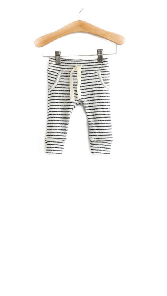 Babysprouts co, Jogger Sweats - Navy Stripe