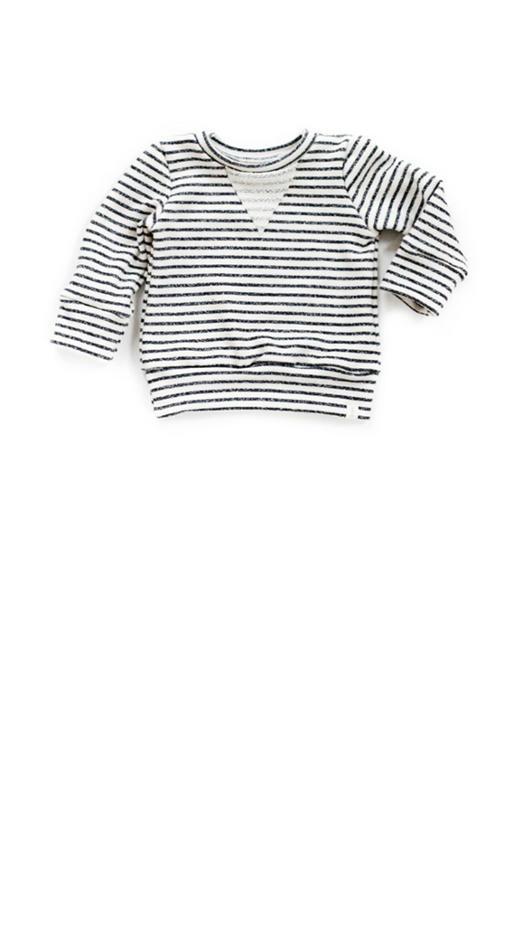 Babysprouts co, Sweatshirt - Navy Stripe