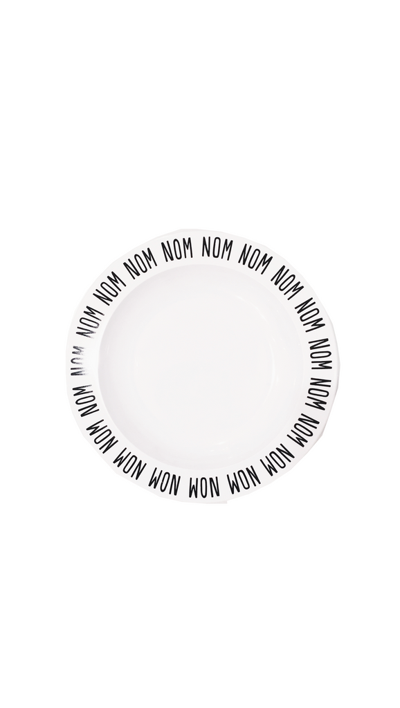 Buddy & Bear, Nom Nom Nom Plate - Black