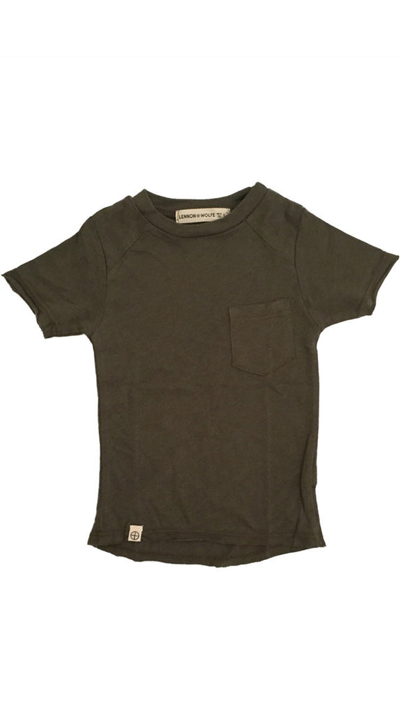 Lennon + Wolfe, Sage Pocket Tee - More Colors