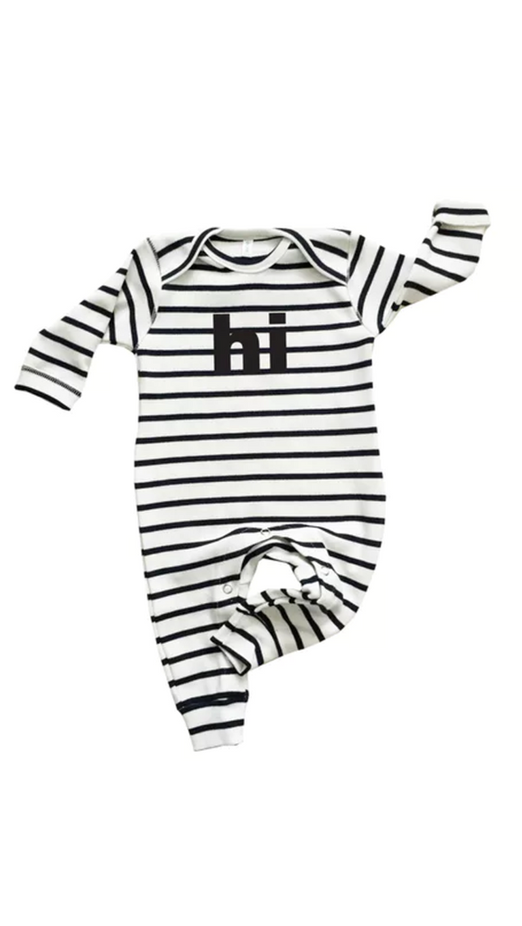 Organic Zoo, Hi Playsuit - Stripe