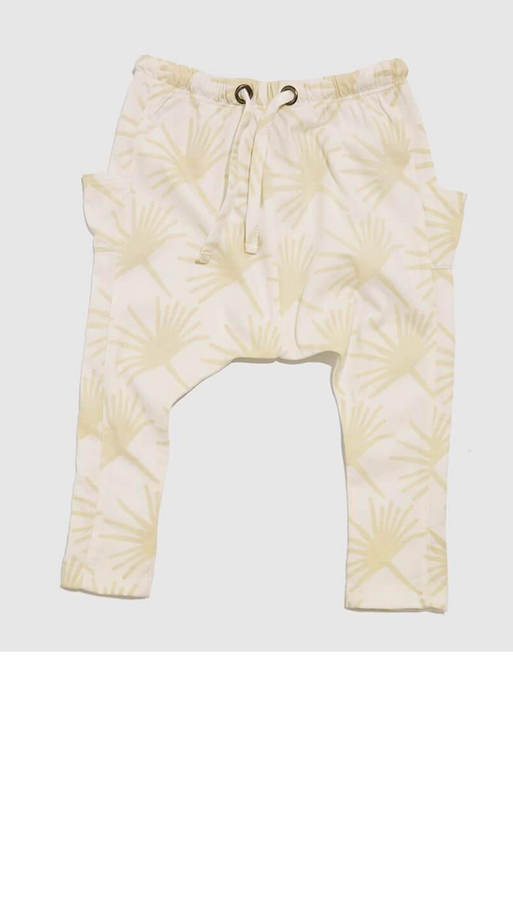 Woodstocker Pants - Ivory Palms