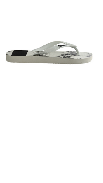 Top Stripes Logo Sandal - Black/White