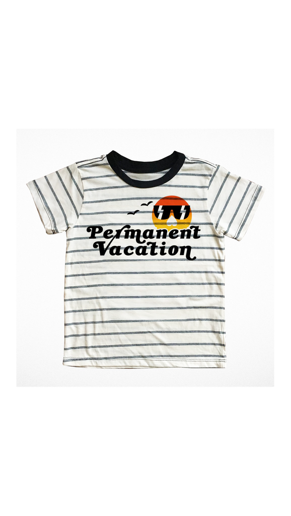 Tiny Whales, Permanent Vacation Tee - Bone White
