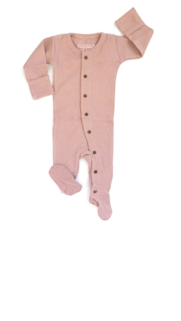 Organic Thermal Gloved Sleeve Overall - Mauve