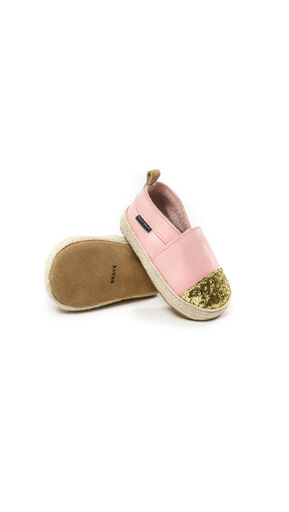 Pretty Brave Espadrille - Pink with Glitter Toe