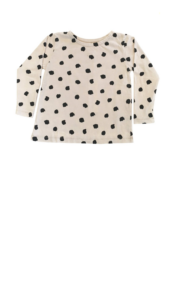 Children of the Tribe, Long Sleeve Swing Top - Polka Dot