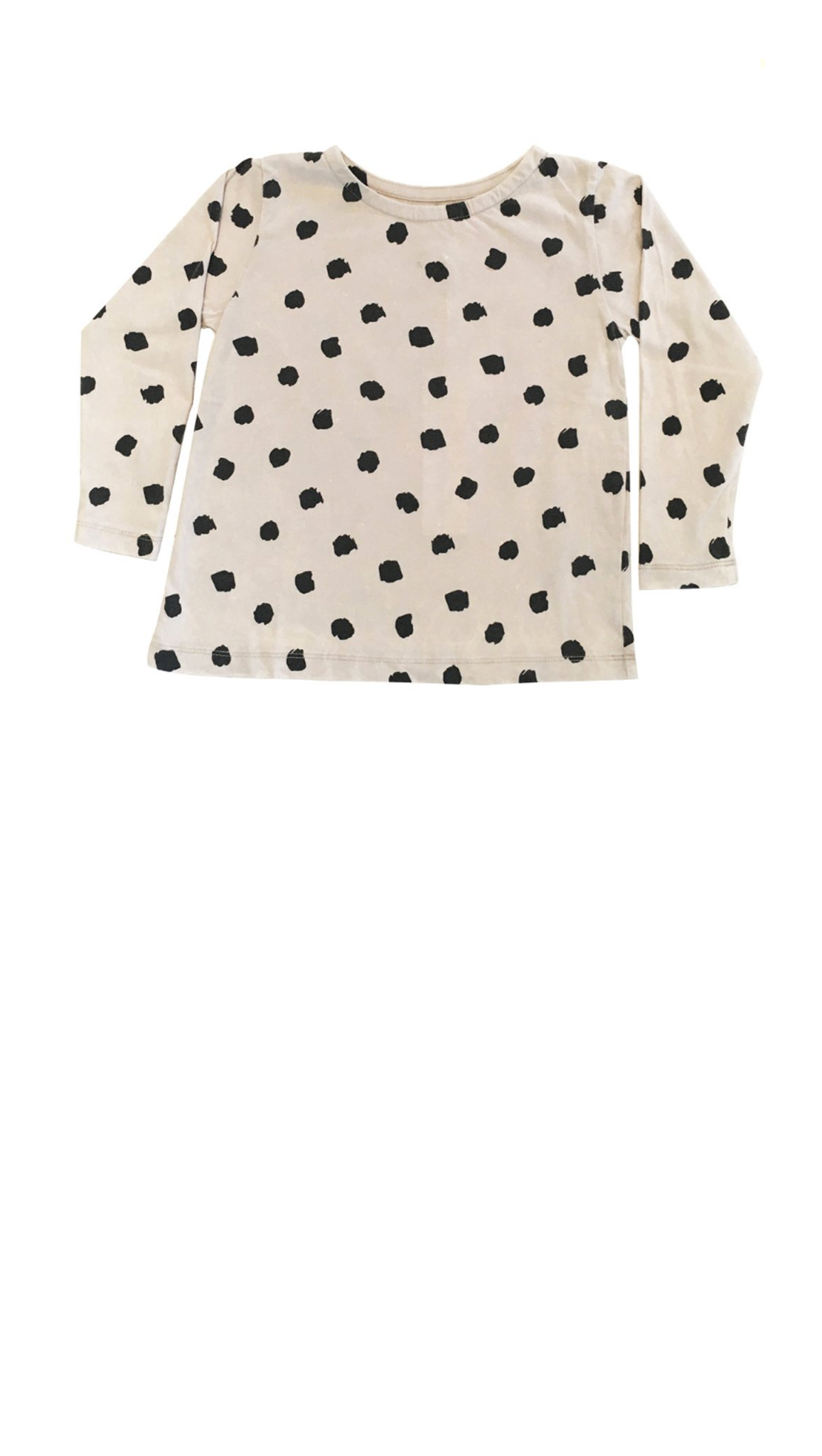 Long Sleeve Swing Top - Polka Dot