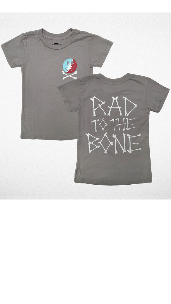 """Rad To The Bone"" Tee - Slate"