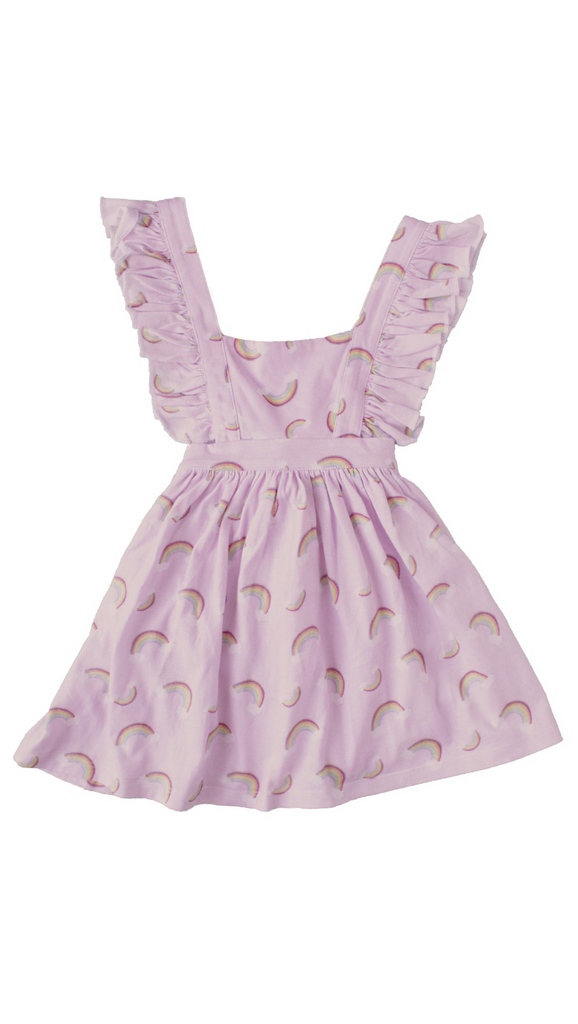 Paush, Rainbow Pinafore - Praline Pink