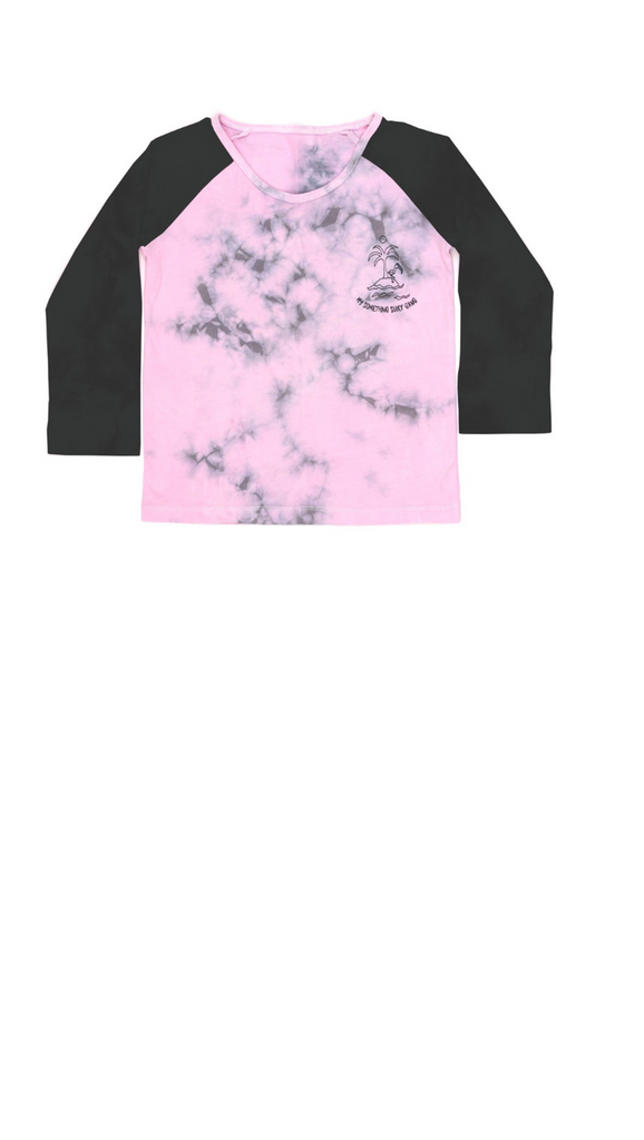 Children of the Tribe, Surf Gang Raglan - Tie Dye