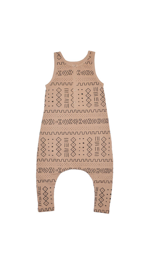 Little Urban Apparel, Romper - Mud Cloth