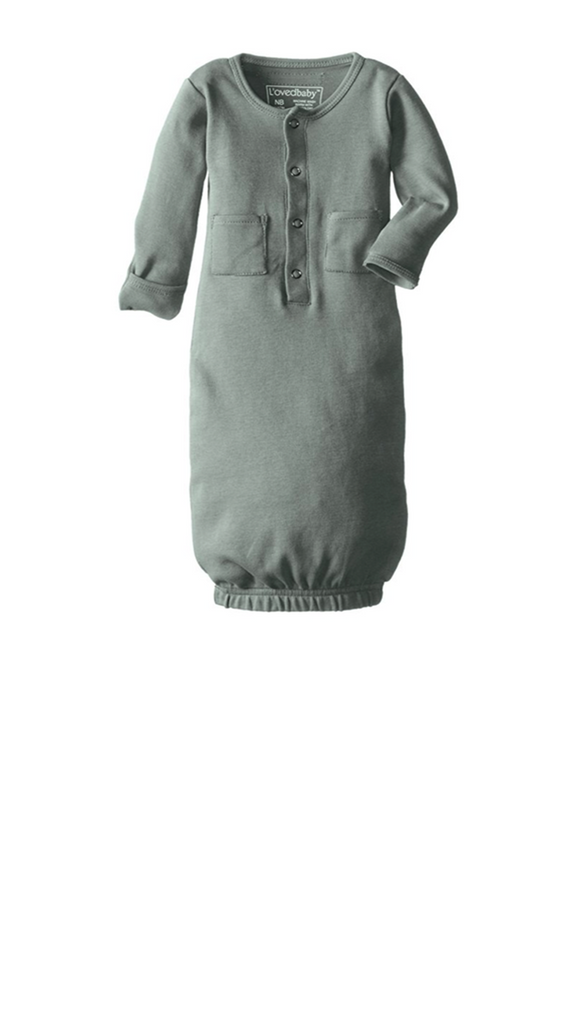 L'ovedbaby, Organic Gown - Seafoam