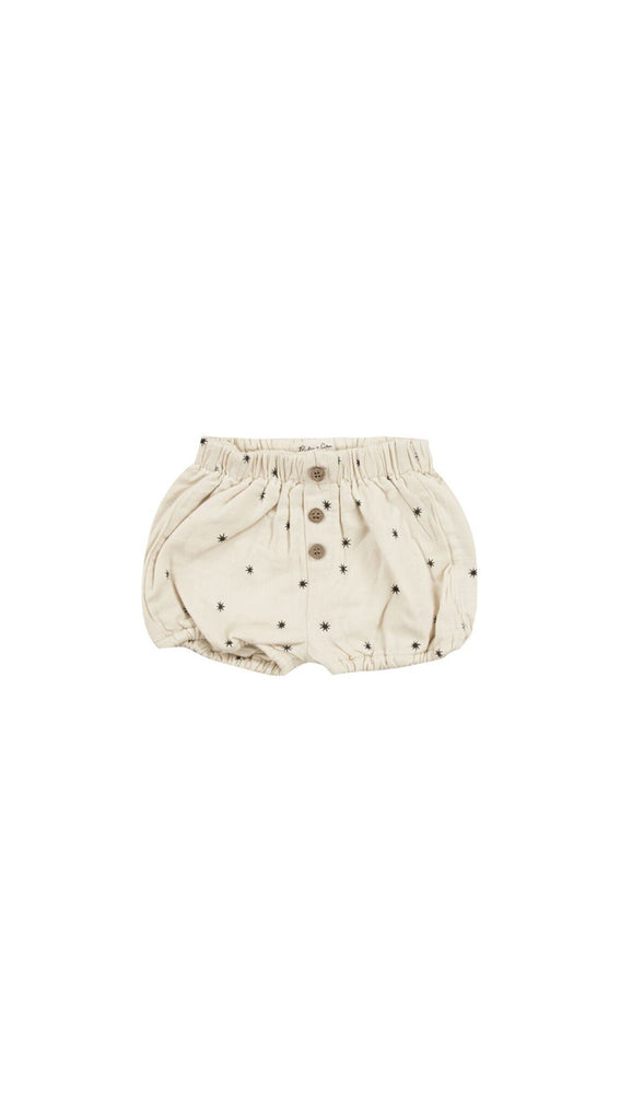 rylee + cru button shorts starlight print - cream