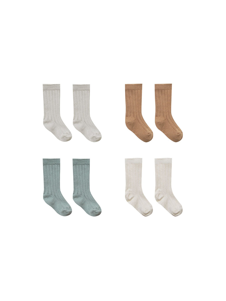 Organic Ribbed Baby Socks