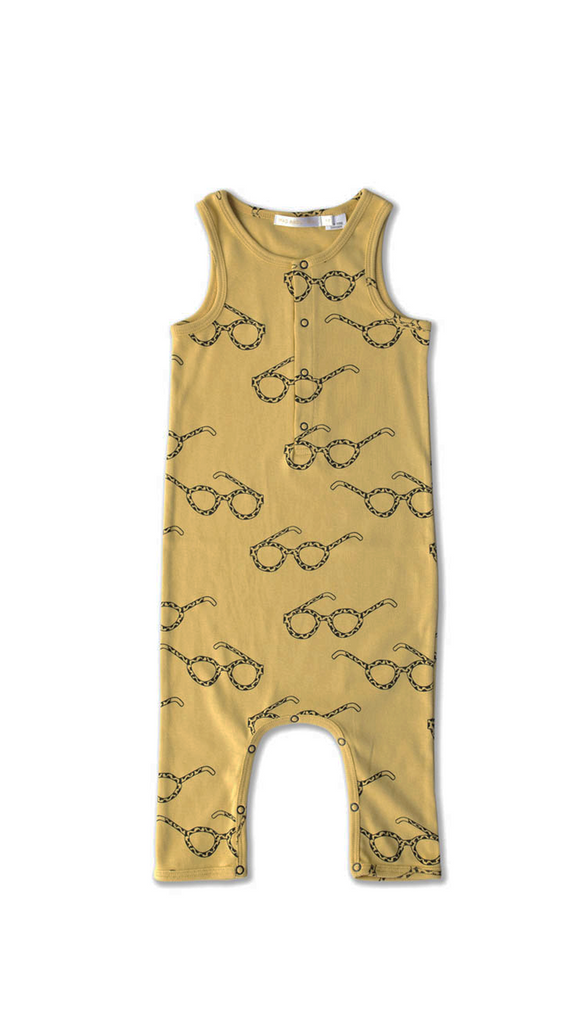Mad About Mini, Specs Low Slung Jumpsuit - Mustard