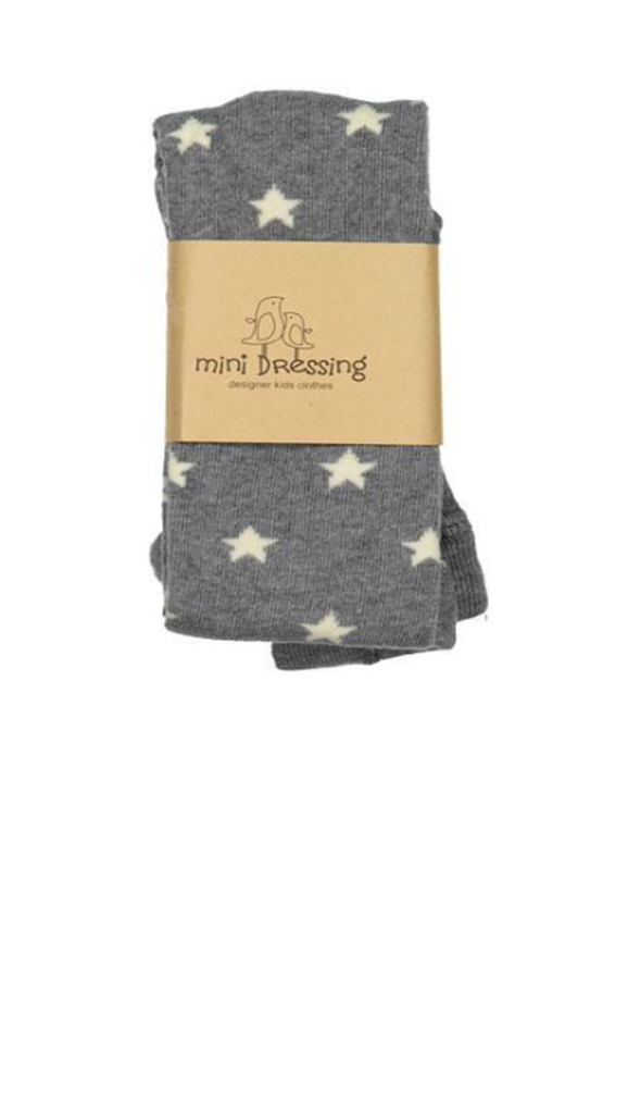 Star Knee Socks - Grey
