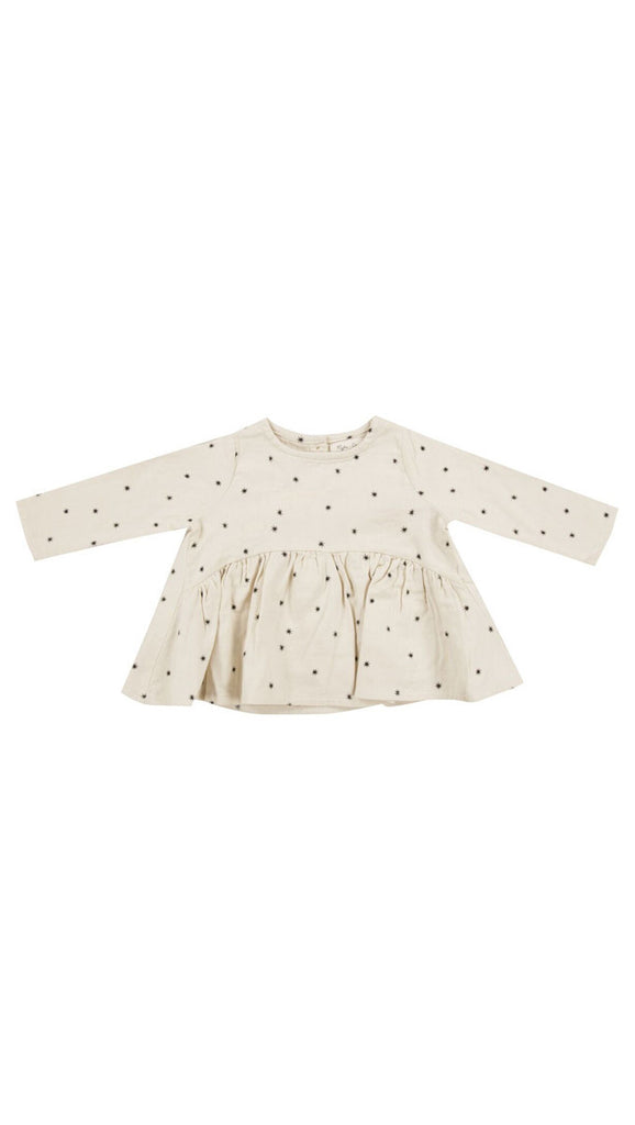 rylee + cru long sleeve blouse starlight print - cream