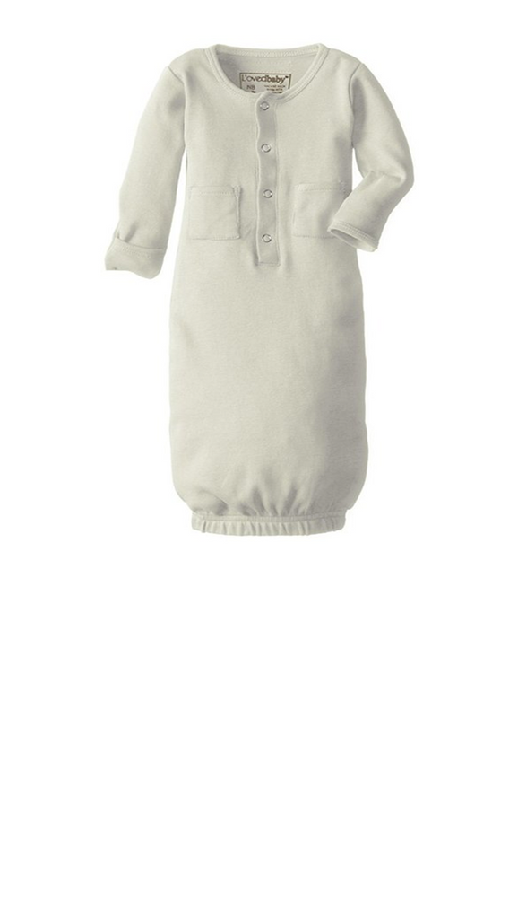 L'ovedbaby, Organic Gown - Stone