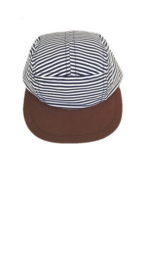 George Hats, Five Panel Trucker Hat - Stripe