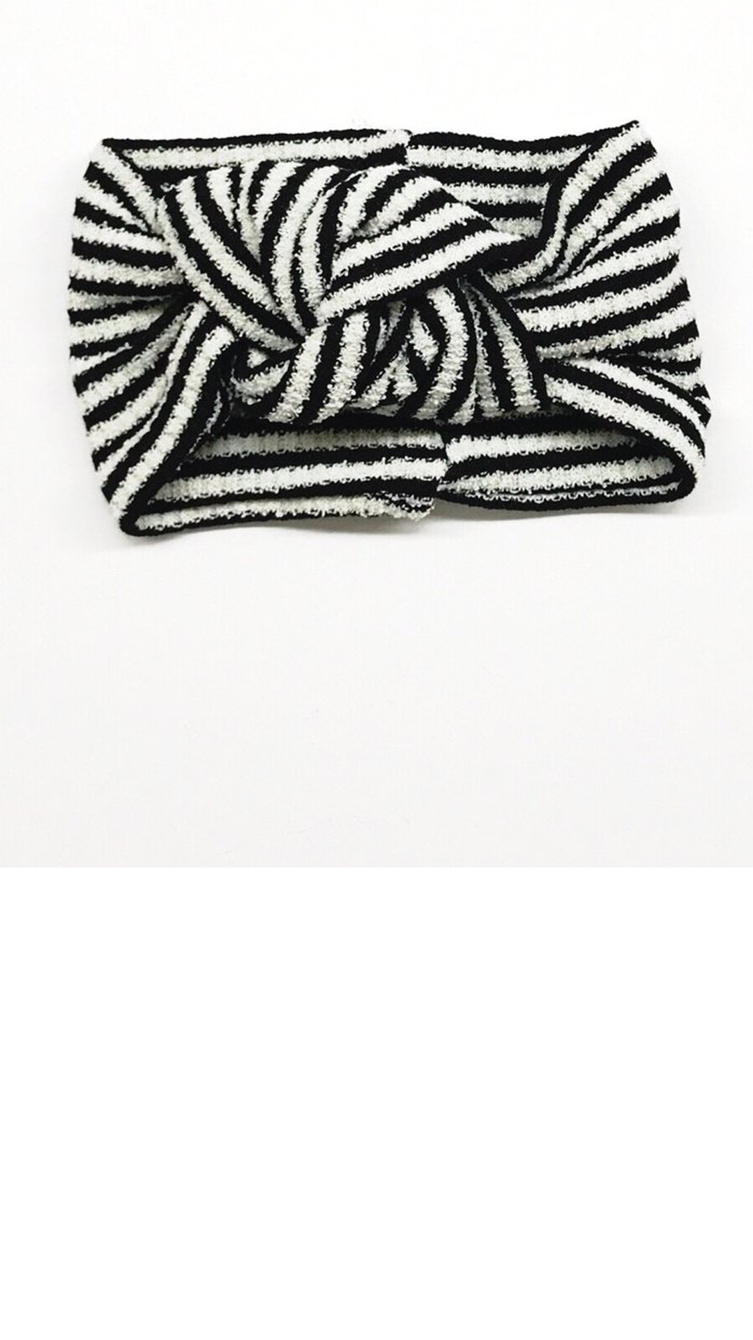 Twist Turban - B/W stripes