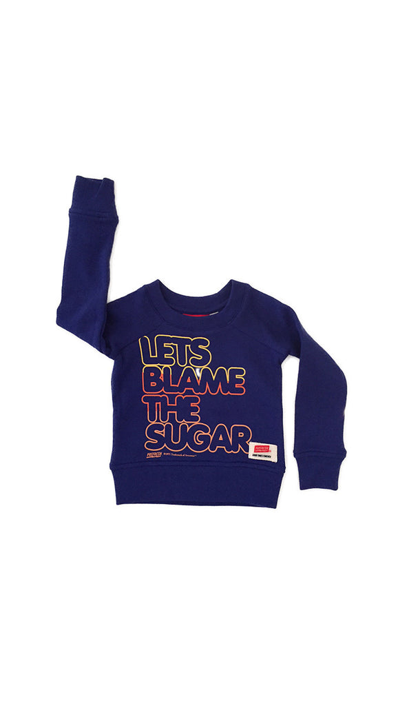 Prefresh lets blame the sugar sweatshirt - blue