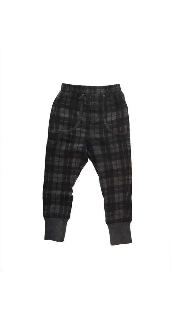 Zuttion Trackies Tartan - Charcoal