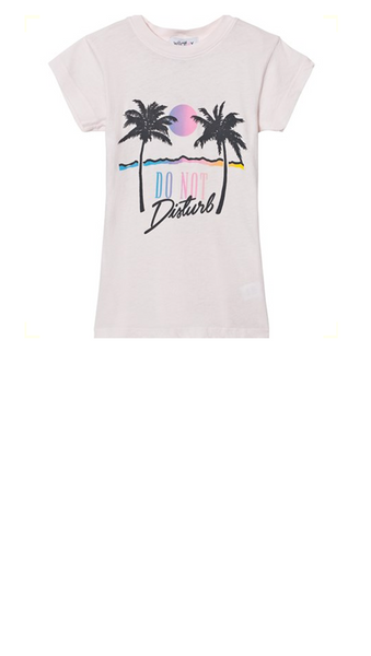 Wildfox, Do Not Disturb tee - pink