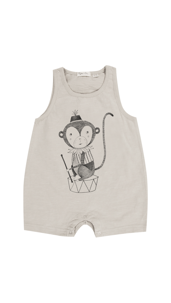 Rylee + Cru, Monkey Romper - Cloud