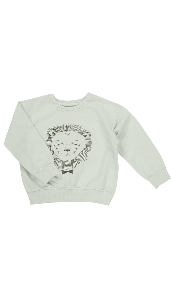 Rylee + Cru, Lion Sweatshirt - Mint