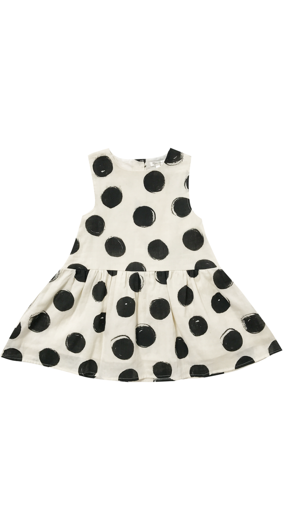 Rylee + Cru, Dots Button Back Dress - Vanilla