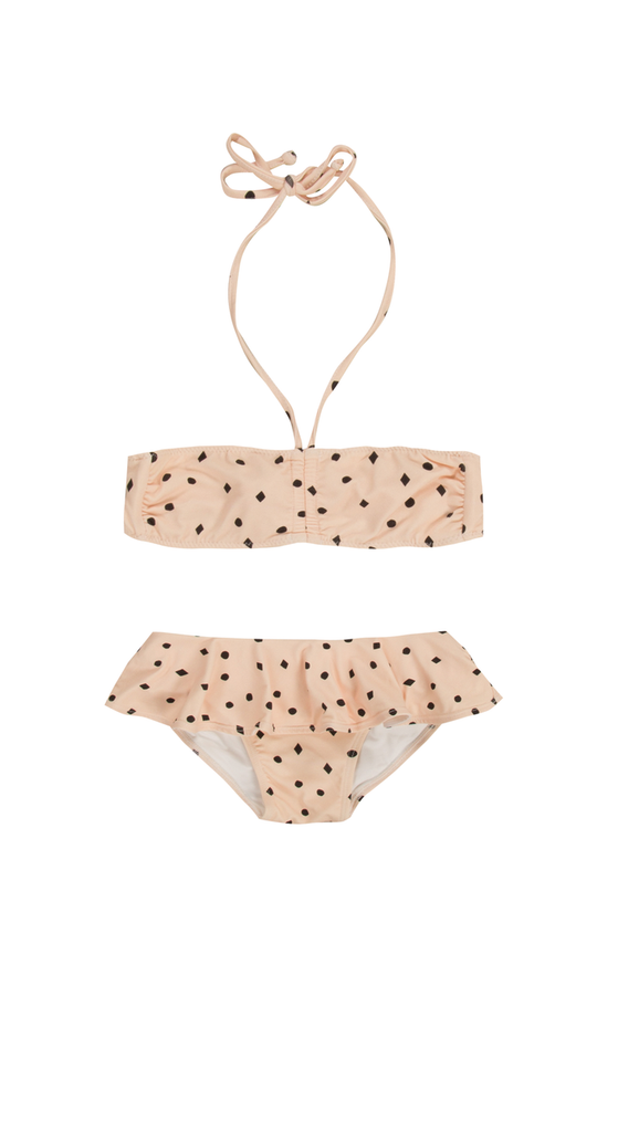 Rylee + Cru, Dots n Diamonds Bikini - Blush