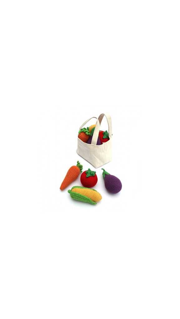 Cheengoo Veggies Bag Rattle Set