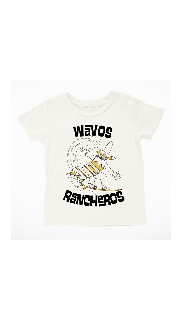 Tiny Whales, Wavos Rancheros Tee - Bone White