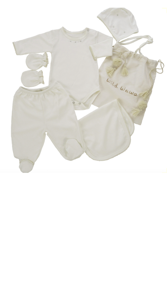 Wild Wawa, Welcome Baby Set - Ivory