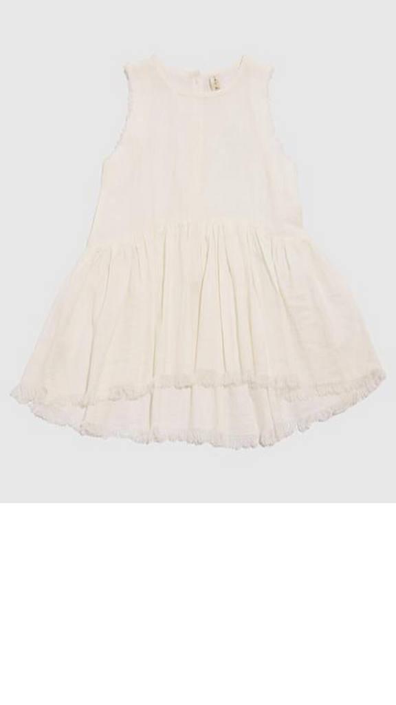 Eliza Sleeveless Smock - Milk