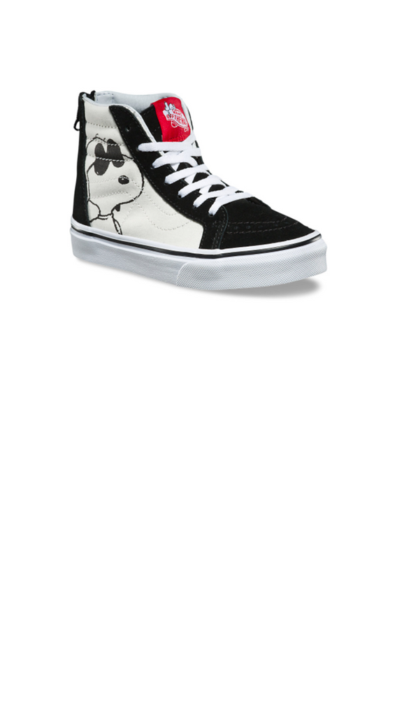 Peanuts Sk8 HI Zip - Joe Cool/ Black