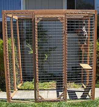 Outdoor Cat Enclosure Redwood Amp Steel Wire Kit Standard