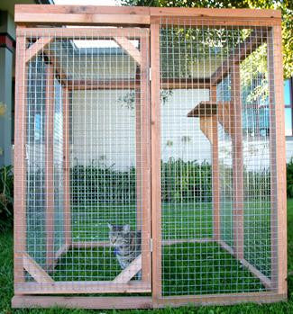 Outdoor Economy Cat Enclosure Kit Standard And Kitten