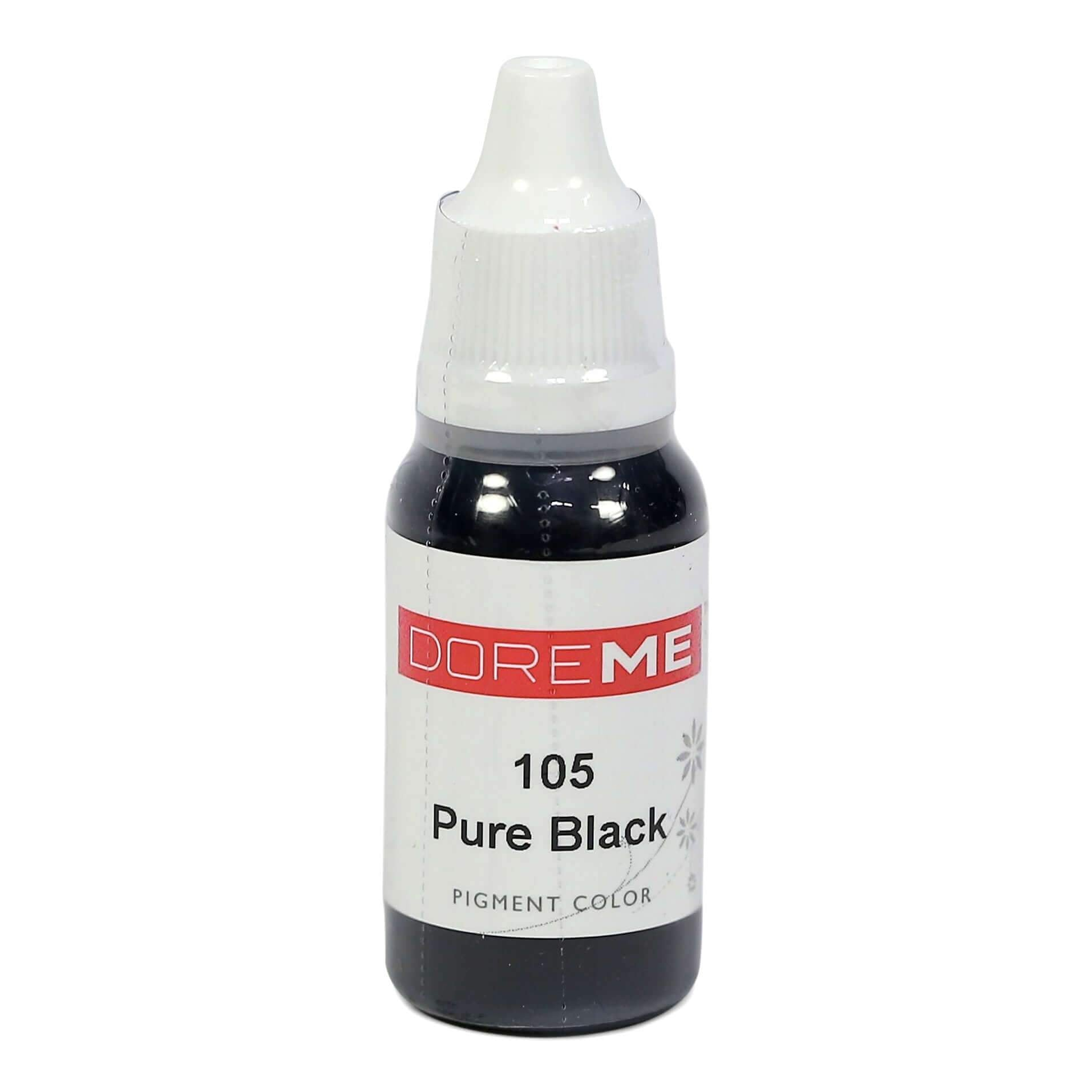 Permanent Makeup pigments Doreme Micropigmentation Eyebrow, Eyeliner, Lip Colours 105 Pure Black (c) - Beautiful Ink UK trade and wholesale supplier