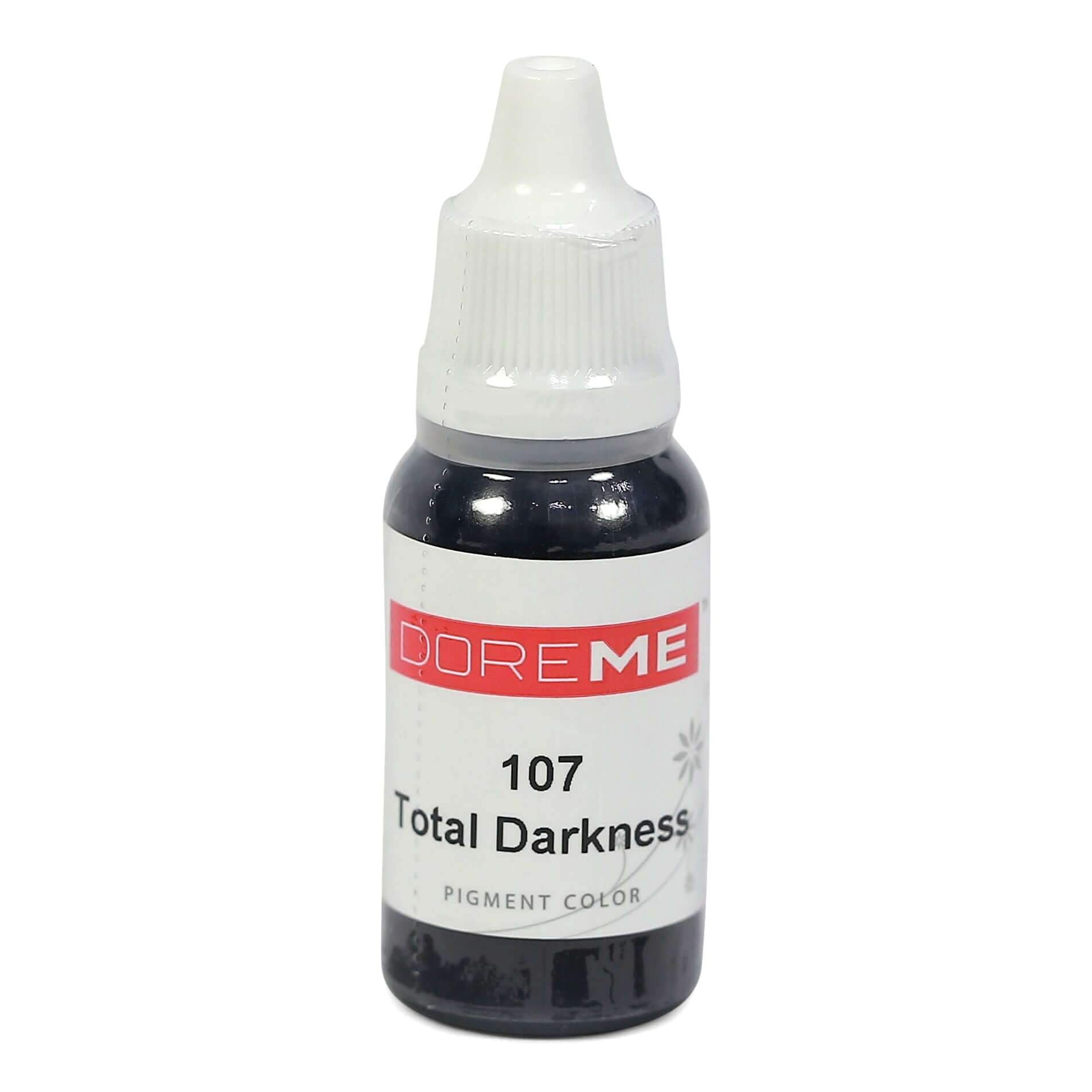 Permanent Makeup pigments Doreme Micropigmentation Eyebrow, Eyeliner, Lip Colours 107 Total Darkness (c) - Beautiful Ink UK trade and wholesale supplier