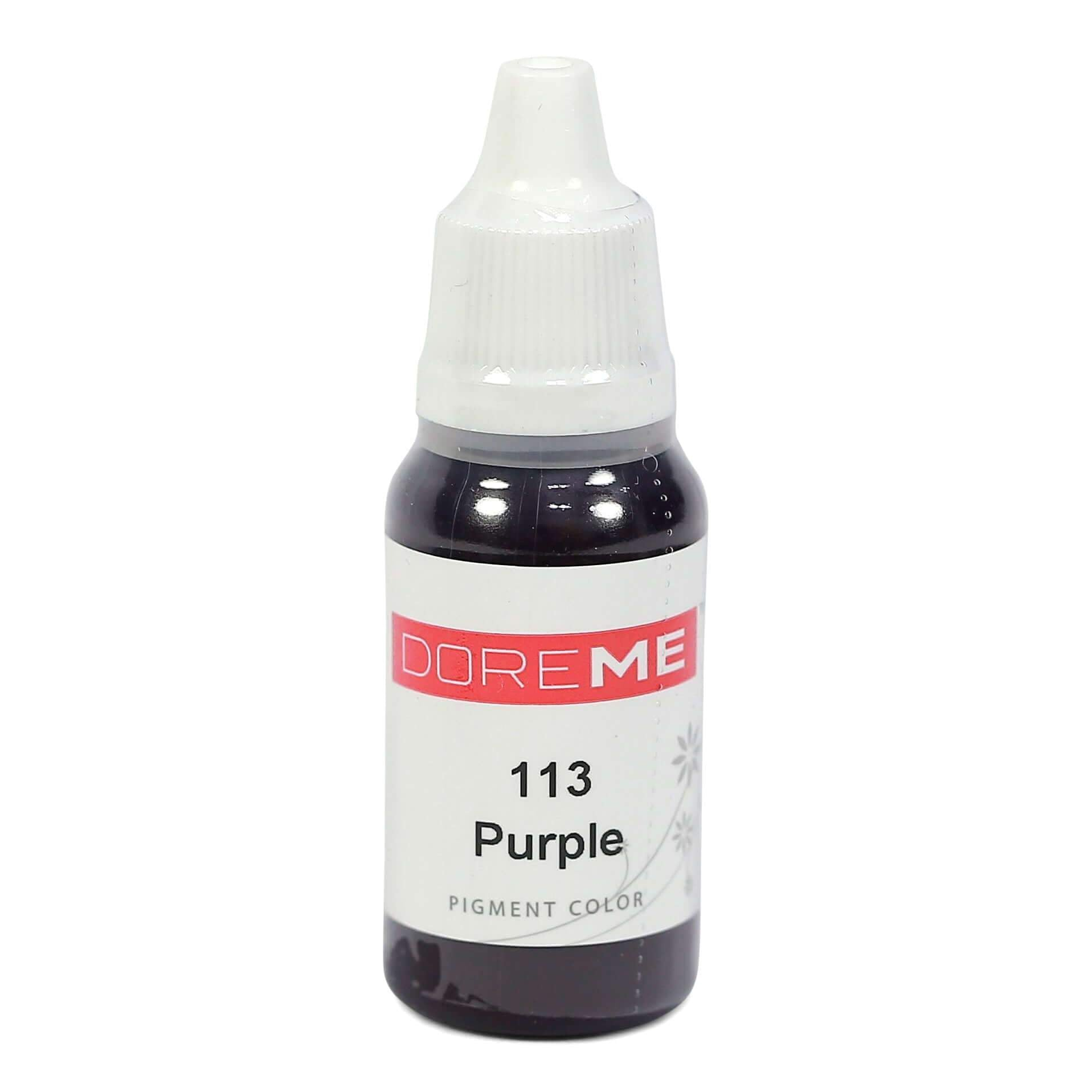 Permanent Makeup pigments Doreme Micropigmentation Eyebrow, Eyeliner, Lip Colours 113 Purple (c) - Beautiful Ink UK trade and wholesale supplier
